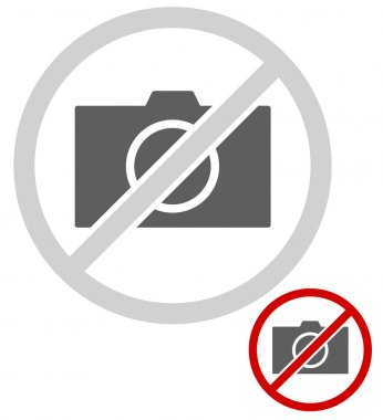 Simple, universal no photo signs