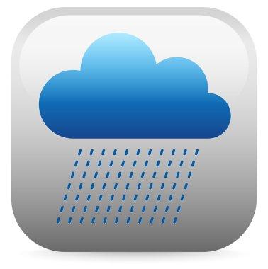 Raincloud blue  icon