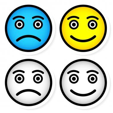 Sad and happy smileys