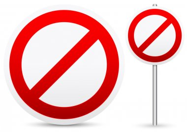 Forbidding concept sign