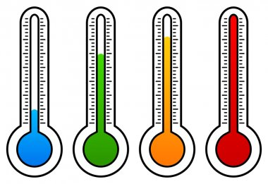 Thermometer colorful   vector  graphics clip art vector
