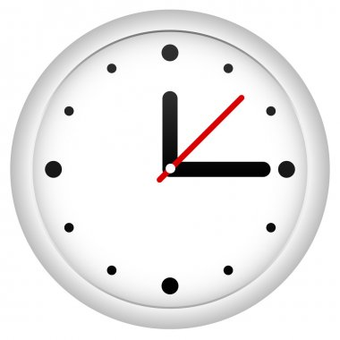 Clock icon on white