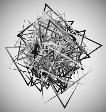Abstract geometric shapes.