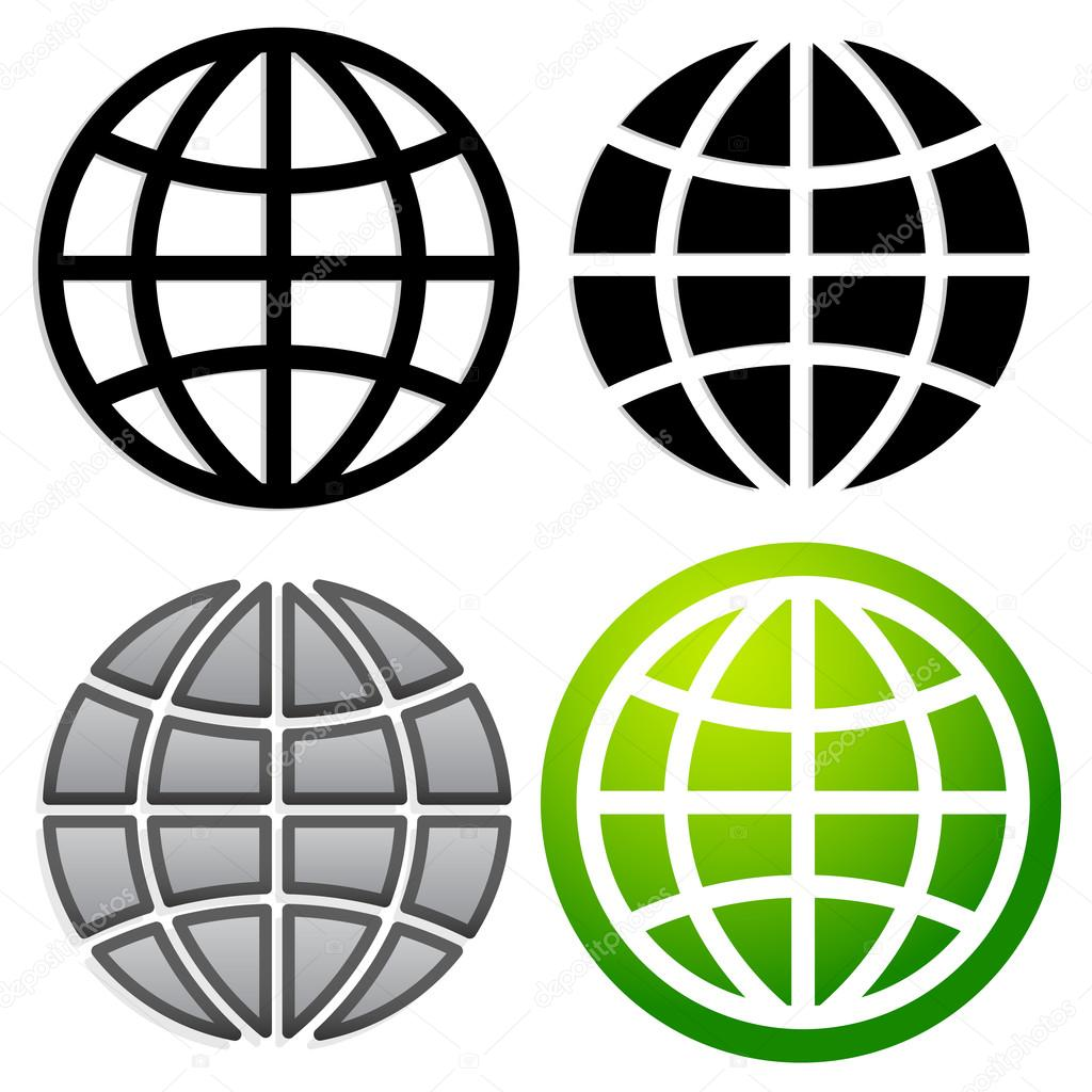 Globus-Grafik, Erde Zeichen — Stockvektor © vectorguy #67110233