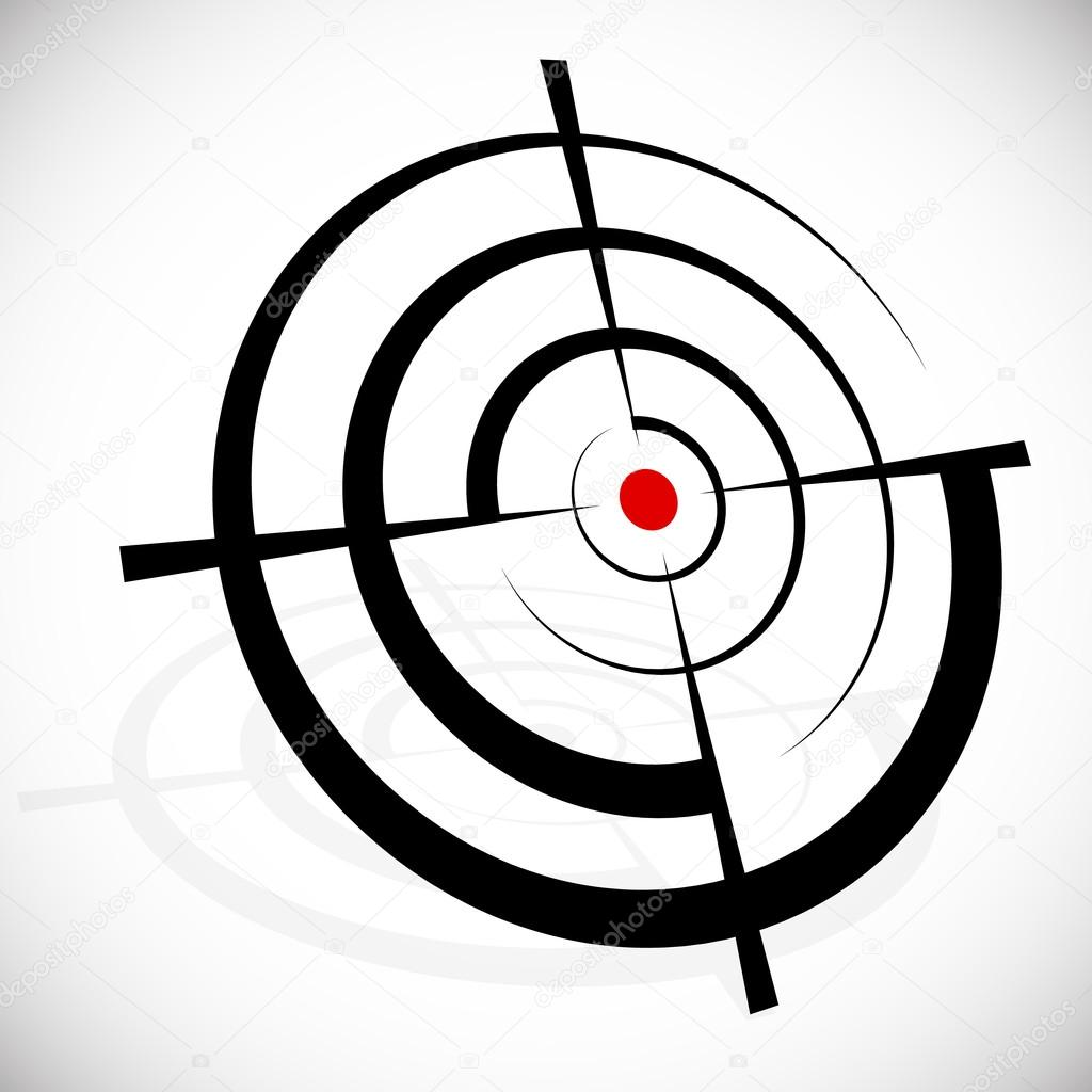 Crosshair, reticle, viewfinder, target graphics. vector illustration isolated on white stock vector