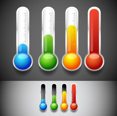 Thermometer icons templates