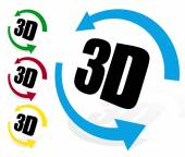 Fotografie 3d icons with arrows