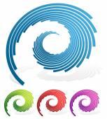 Fotografia Linee di spirale simboli astratti