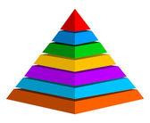 Fotografie Multicolor pyramid symbol
