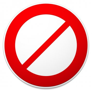 Deny, do not, prohibition sign