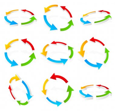 Colorful circular arrows