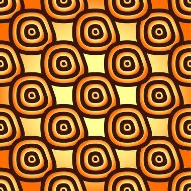 Yellow-orange seamless pattern