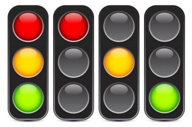 Traffic light, signal, semaphore