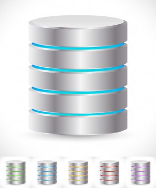 Abstract HDD cylinders icons