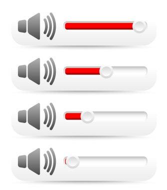 control sliders, speaker symbols