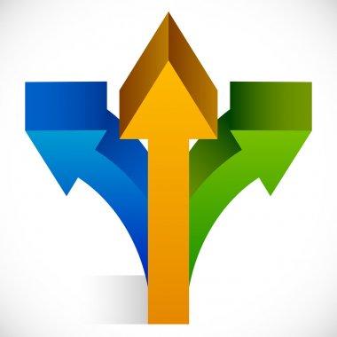 3-way arrows symbol