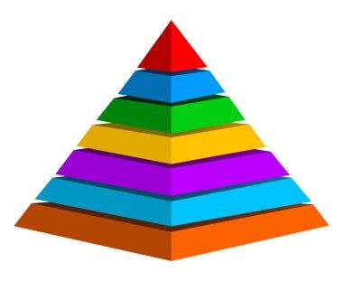 Multicolor pyramid symbol
