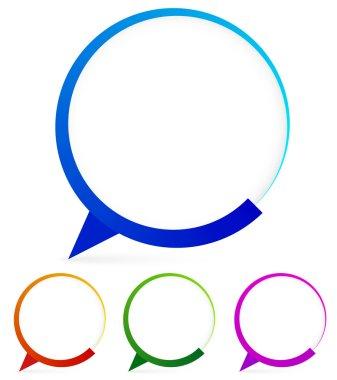 Modern speech bubble shapes