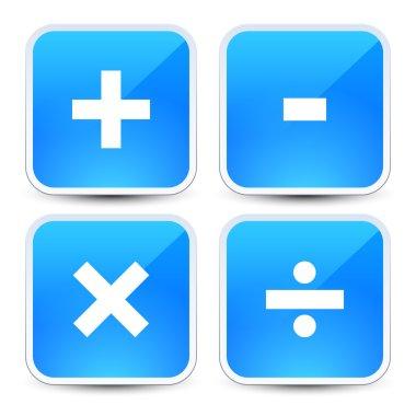 Math symbols icons