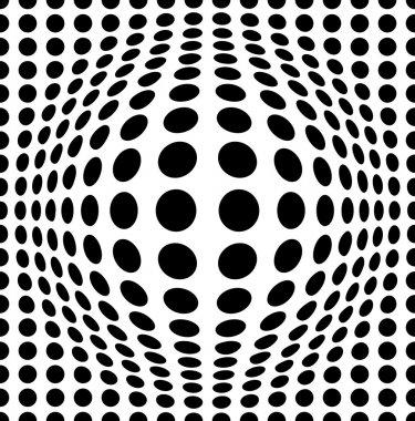 Bulging dots background