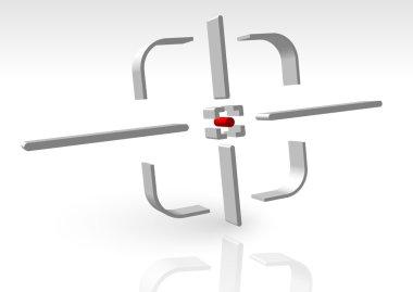 Crosshair, reticle, aim icon