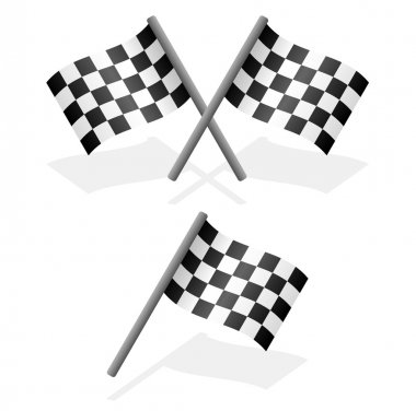 Cross and single racing flags