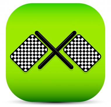 Crossed racing flag icon
