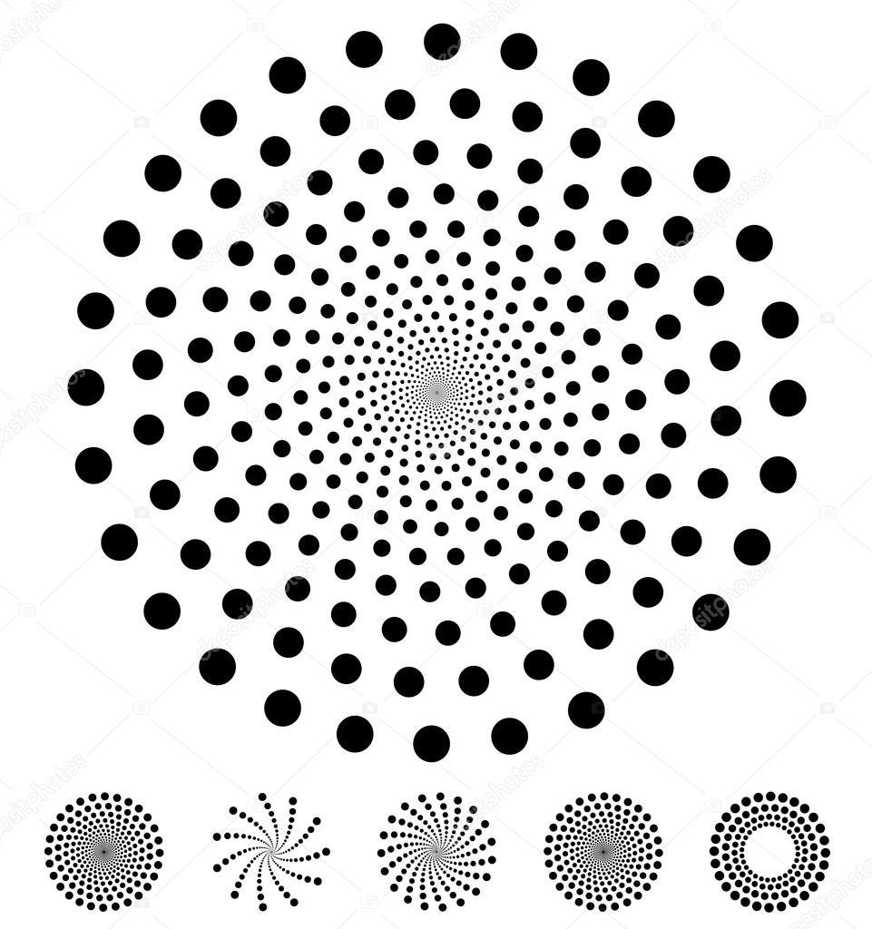 Vector: circulo puntos | Puntos, patrones de círculos — Vector de ...