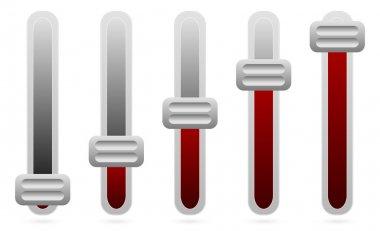 Vertical sliders, adjusters set