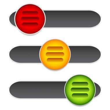 Horizontal sliders, adjust bars
