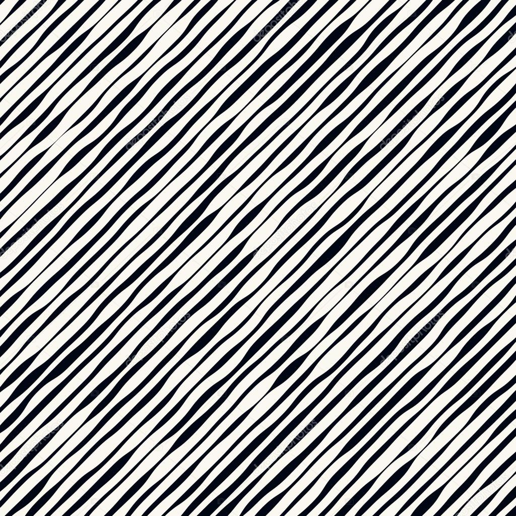 Slanted wavy lines pattern
