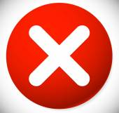 roter kreis symbol mit wei en kreuz x form l schen stockvektor 112178650. Black Bedroom Furniture Sets. Home Design Ideas