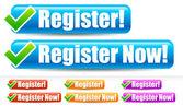 Regisztráljon, és regisztrál most gombok