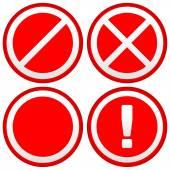 Fotografie Set of Different Prohibition  Signs