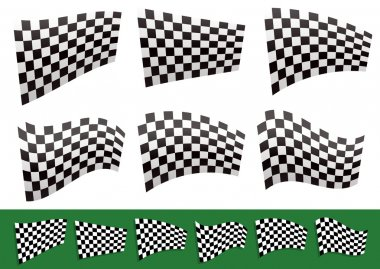 Isolated Checkered Flags