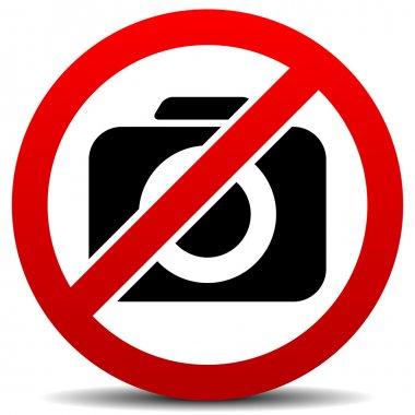 Crossed Camera Symbol