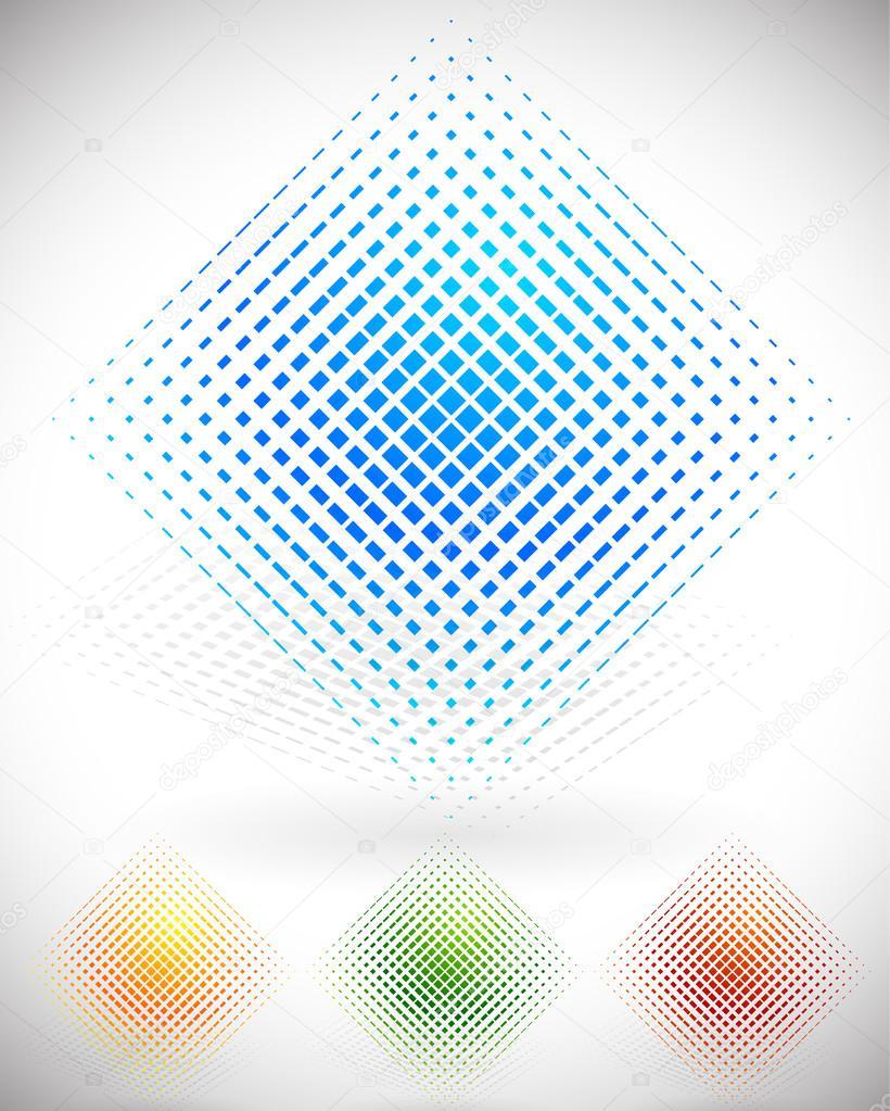 Shattered squares colorful design