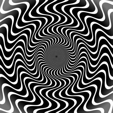 Black and White Radial Lines Background