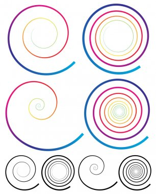 Colorful Spiral Elements.
