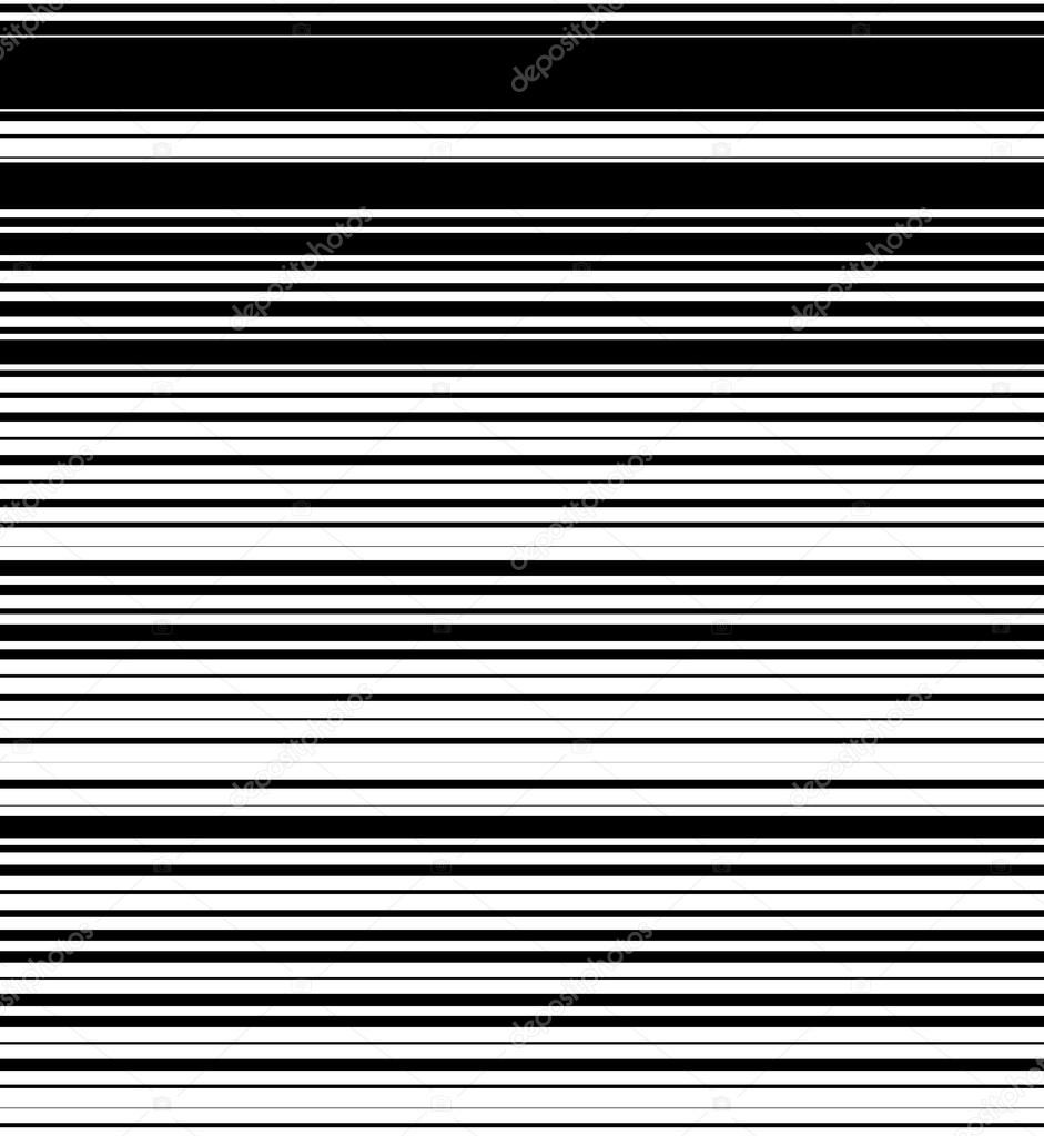 Straight, horizontal lines pattern