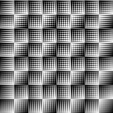 Overlapping triangles seamless patterns.