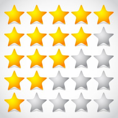 5 star star rating element.