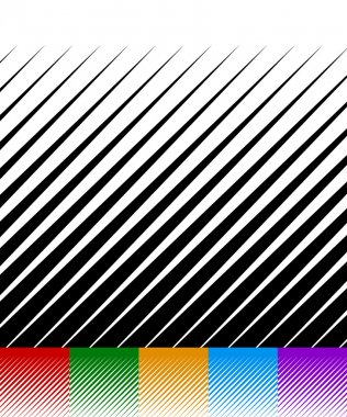 Abstract background, lines pattern set.