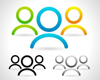 Group of people graphics set.