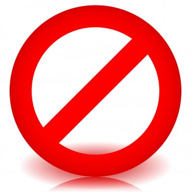 Red No entry sign.