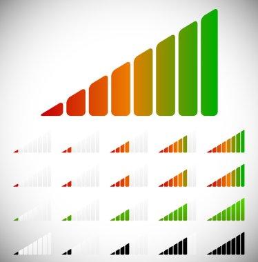 Signal, progress or level icons