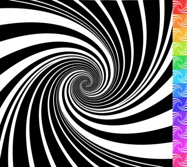 Abstract rotating shapes.