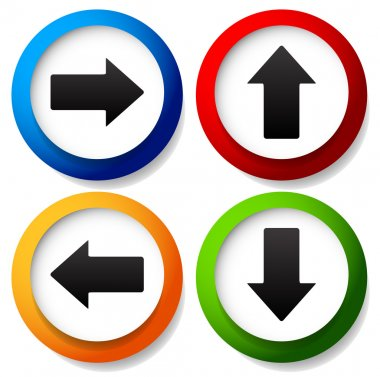 Colorful arrow icons set
