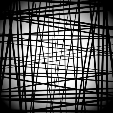 Abstract black and white  lines background
