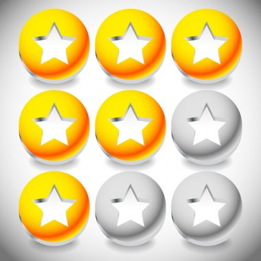 Star rating system icons